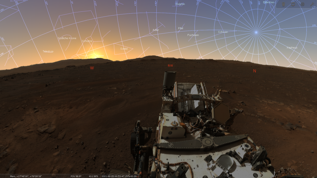 Stellarium Perseverance Screenshot