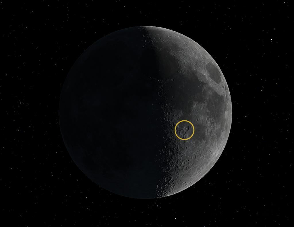 Theophilus und Cyrillus auf dem Mond